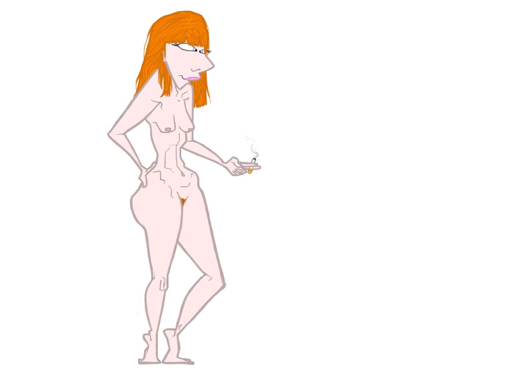nude rousse